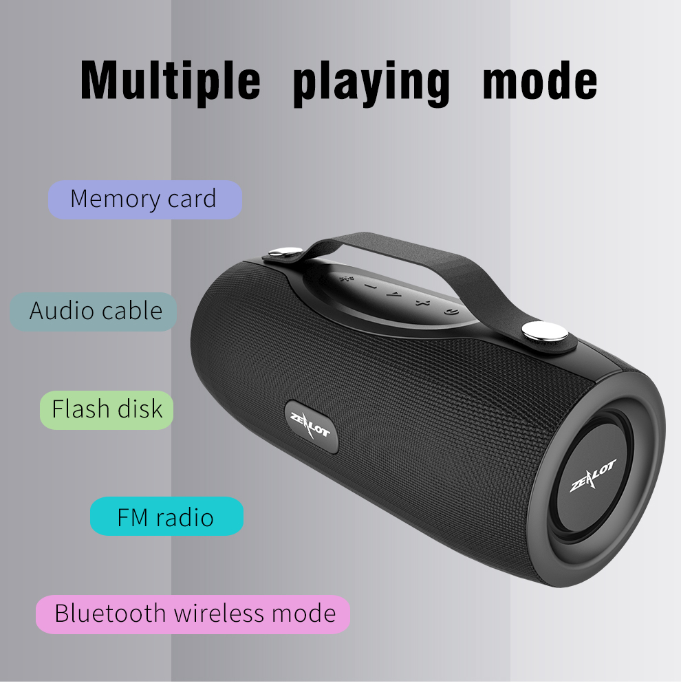 Zealot S29 Outdoor deep bass wireless bluetooth speaker TF card card speaker